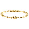 """Mens Real 10K Yellow Gold 8mm Solid Miami Cuban Link Fancy Bracelet Box Clasp 9"""""""