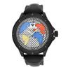 Men's Ice Mania IM3050 Genuine Diamond Black PVD Color World Map Watch 0.08 CT.