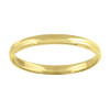 14K Yellow Gold Unisex Solid Domed Regular Fit 2mm Wedding Band Sizes 5 to 13