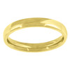 14K Yellow Gold Unisex Solid Domed Comfort Fit 3mm Wedding Band Sizes 5 to 14