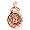 """14K Rose Gold Round Brown Diamond Oval Cluster Pendant 0.75"""" Fancy Charm 7/8 CT."""
