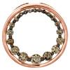 "10K Rose Gold Graduated Round Brown Diamond Circle Pendant 0.70"" Charm 3/4 CT."