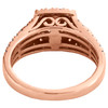 10K Rose Gold Solitaire Morganite & Diamond Split Shank Engagement Ring 1.20 TCW