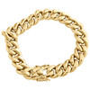 Mens 10K Yellow Gold 12mm Hollow Miami Cuban Link Box Clasp Bracelet 8 - 9 Inch