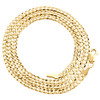 14K Yellow Gold 2.50mm Solid Plain Curb Cuban Chain Link Necklace 16 - 24 Inches