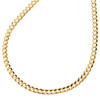 14K Yellow Gold 3mm Solid Plain Curb Cuban Chain Link Necklace 16 - 24 Inches