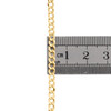 14K Yellow Gold 3.50mm Solid Plain Curb Cuban Chain Link Necklace 16 - 30 Inches