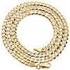 14K Yellow Gold 4.50mm Solid Plain Curb Cuban Chain Link Necklace 18 - 30 Inches