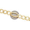 14K Yellow Gold 12mm Solid Plain Figaro Link Bracelet Lobster Clasp 8 - 9 Inch