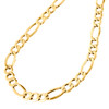 Genuine 14K Yellow Gold 7.50mm Solid Plain Figaro Link Chain Necklace 18-30 Inch
