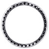 "Sterling Silver Black Diamond Circle of Life Pendant 1.15"" Pave Slide Charm 1 CT"