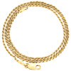 14K Yellow Gold 1mm Solid Diamond Cut Rope Chain Link Necklace 16 - 30 Inches