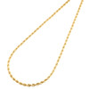 14K Yellow Gold 2.50mm Solid Diamond Cut Rope Chain Link Necklace 16 - 30 Inches