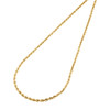 14K Yellow Gold 2mm Solid Diamond Cut Rope Chain Link Necklace 16 - 30 Inches