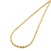 14K Yellow Gold 4mm Solid Diamond Cut Rope Chain Link Necklace 18 - 30 Inches