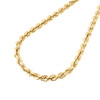 14K Yellow Gold 5mm Solid Diamond Cut Rope Chain Link Necklace 20 - 30 Inches