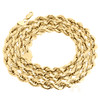 14K Yellow Gold 7mm Solid Diamond Cut Rope Chain Link Necklace 22 - 30 Inches