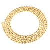 14K Yellow Gold 2.50mm Hollow Diamond Cut Rope Chain Link Necklace 16 - 30 Inch
