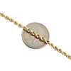 14K Yellow Gold 3mm Hollow Diamond Cut Rope Chain Link Necklace 16 - 30 Inches