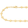14K Yellow Gold 6mm Candy / Moon Cut Italian Bead Chain Fancy Necklace 18 Inches