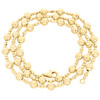 14K Yellow Gold 6mm Candy / Moon Cut Italian Bead Chain Fancy Necklace 20 Inches
