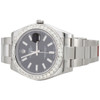 Mens 41mm 116300 Rolex DateJust II Real Diamond Watch Black Stick Dial 2.75 CT.