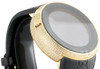 Mens YA114229 I-Gucci Digital White Diamond Watch 44mm Yellow Steel Case 2.50 CT