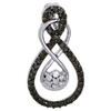 Black Diamond Double Infinity Pendant 10K White Gold 0.25 CT.