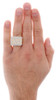 10K Yellow Gold Mens Round Cut Diamond Nugget Style Pave Set Pinky Ring 0.77 Ct.