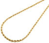 Real 10K Yellow Gold Solid Rope Chain 3mm Twist Unisex Necklace 16-30 Inches