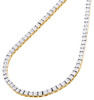 """1 Row Necklace Genuine Diamond Link Chain Mens 925 Sterling Silver 36""""   0.83 CT"""