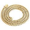 14K Yellow Gold Solid Miami Cuban Link Chain 6mm Box Clasp Necklace 24-30 Inches