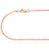 10K Real Rose Gold Venetian Round Box Chain 1.35mm Unisex Necklace 18 - 30 Inch
