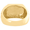 Real 10K Yellow Gold Mens Nugget Style Pinky Ring Fancy Dome Wedding Band 12.5mm