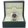 Mens 41mm 116300 Rolex DateJust II Steel Diamond Watch Black Roman Dial 3 CT.