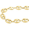 Real 10K Yellow Gold 3D Hollow Puff Gucci Link Chain 13mm Necklace 22-30 Inches