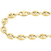 Real 10K Yellow Gold 3D Hollow Puff Gucci Link Chain 9.50mm Necklace 22-30 Inch