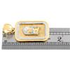 "10K Yellow Gold Two Tone Diamond Cut Jesus Face Square Frame Pendant 1.6"" Charm"