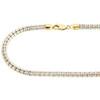 "10K Yellow Gold 4.8mm Diamond Cut 3D Round Rice Bead Italian Necklace Chain 30"""