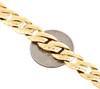"10K Yellow Gold Solid Fancy Link 10mm Brushed Matte Texture Men's Bracelet 9"""