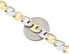 "10K Two Tone Gold Puff Gucci / Mariner 8.5mm Mens Matte Fancy Link Bracelet 8.5"""