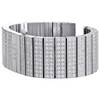 Joe Rodeo JoJo 10 Rows of White Cubic Zirconia CZ Watch Band Fits Only 24mm Lugs