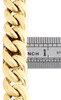 Mens 10K Yellow Gold 3D Hollow Miami Cuban Link Chain 14mm Box Clasp 20-30 Inch