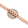 10K Rose Gold Solid Miami Cuban Link Chain 8mm Box Clasp Necklace 24-30 Inches