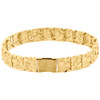 """Mens Real 10K Yellow Gold Solid Nugget Ore Style Fancy Link Bracelet 11mm 