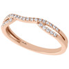 14K Rose Gold Round Diamond Contour Enhancer Ring Ladies Wedding Band 0.17 Ct.