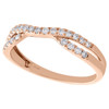 14K Rose Gold Round Diamond Contour Enhancer Ring Ladies Wedding Band 0.25 Ct.