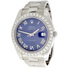 Diamond Roman Numeral Blue Dial to Fit Datejust II Rolex 41mm Models 1/2 CT.