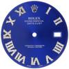 Medium Blue Dial Diamond Roman Numeral to Fit Datejust II Rolex 41mm Models 1/2 CT.