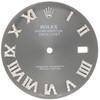 Dark Rhodium Dial Diamond Roman Numeral to Fit Datejust II Rolex 41mm Models 1/2 CT.